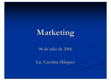 Marketing - Cessi
