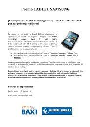 Promoción Baxi Tablet Samsung - El blog del instalador