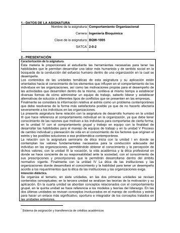 Comportamiento Organizacional - Instituto Tecnológico de Morelia