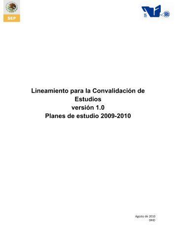 Lineamiento para la Convalidación de Estudios versión 1.0 ... - ITCJ