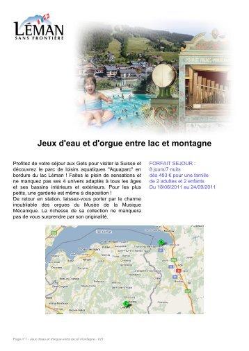 Jeux d'eau et d'orgue entre lac et montagne - Léman sans frontière