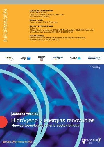 Hidrógeno y energías renovables Hidrógeno y energías ... - Reoltec