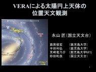 VERAによる太陽円上天体の 位置天文観測 - 国立天文台