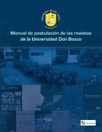 Manual de Publicación para las revistas - Universidad Don Bosco