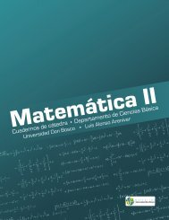 Matemática II - Universidad Don Bosco