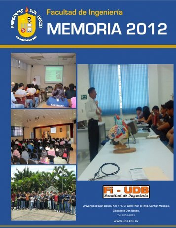 MEMORIA 2012 - Universidad Don Bosco