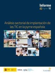 Informe ePyme 2012: Análisis sectorial de implantación ... - Fundetec