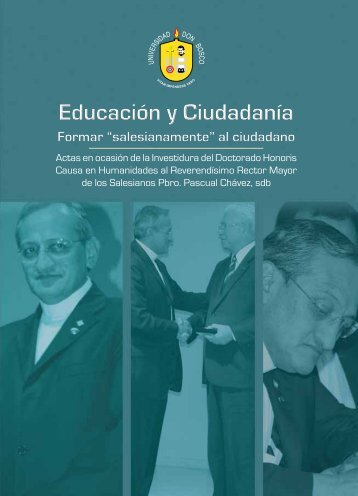 """Educación y Ciudadanía, Formar """"salesianamente"""" - Universidad ..."""