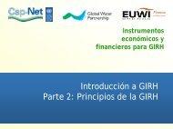 Economic and Financial Instruments for IWRM - Cap-Net