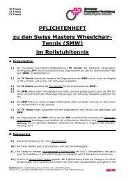 PFLICHTENHEFT zu den Swiss Masters Wheelchair- Tennis (SMW ...