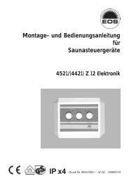 Montage- und Bedienungsanleitung für Saunasteuergeräte
