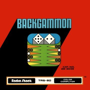 Backgammon (Tandy).pdf - TRS-80 Color Computer Archive