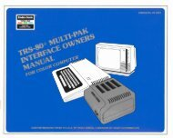 Multi-Pak Interface Owners Manual (Tandy).pdf - TRS-80 Color ...
