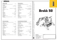 Caractéristiques techniques Technische Daten Tekniska data - Brokk