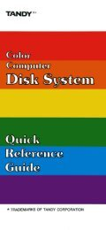 Color Computer Disk System - Quick Reference Guide (Tandy).pdf