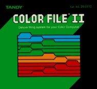 Color File II (Tandy).pdf - TRS-80 Color Computer Archive