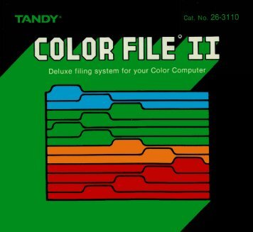 Color File II (Tandy).pdf - TRS-80 Color Computer Archive