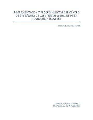 Reglamento - Campus Estado de México - Tecnológico de Monterrey