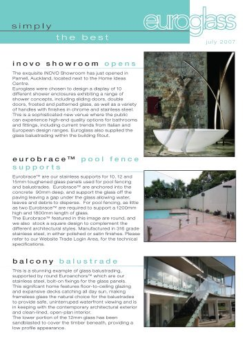 Inovo Showroom Opens - Euroglass