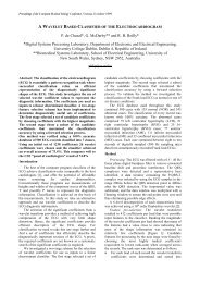 a wavelet based classifier of the electrocardiogram - Digital Signal ...