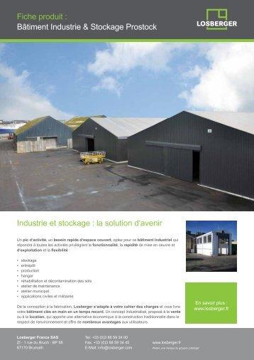 Prostock - Bâtiment modulaire industriel - Losberger