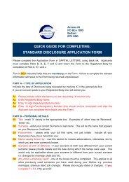 standard disclosure application form