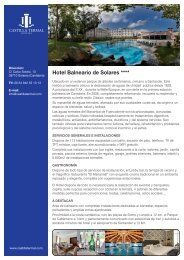 Descargue la Ficha informativa del Hotel Balneario de Solares