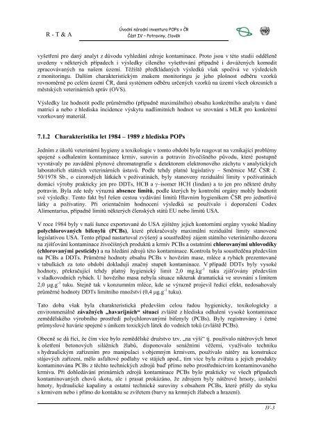7. kontaminace veterinárních komodit a potravin - Centrum pro ...