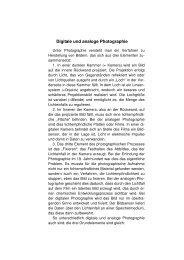 Digitale und analoge Photographie - uwescheler.de
