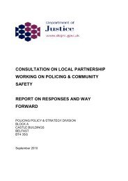 consultation on local partnership working on policing & community ...