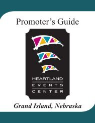 Promoter's Guide - Heartland Events Center