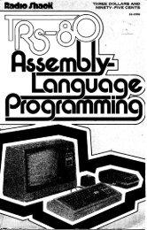 TRS-80 Assembly Language Programming