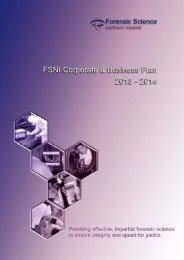 FSNI Corporate & Business Plan 2013-2014 - Department of Justice