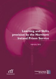 Learning and Skills provision by the Northern Ireland Prison ... - cjini