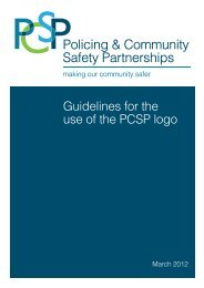 Guidelines for the use of the PCSP logo - Department of Justice