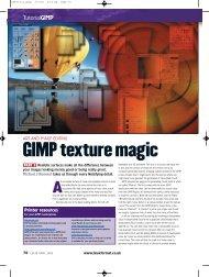 GIMP texture magic - Linux Ink