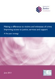 Making a difference to victims and witnesses of crime - Improving ...
