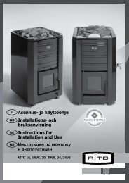 Asennus- ja käyttöohje Installations- och bruksanvisning Instructions ...