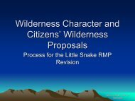 Wilderness Character and Citizens' Wilderness Proposals - Nwcos.org