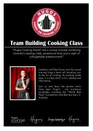 Team Building Cooking Class - Australian Event Services