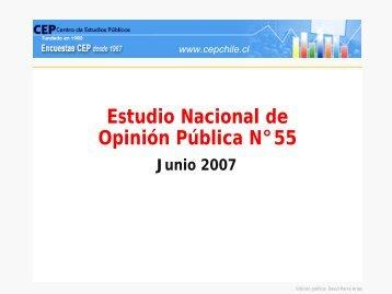Estudio Nacional de Opinión Pública N°55