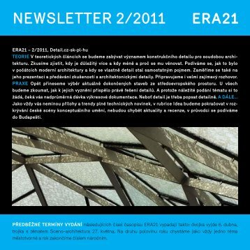 newsletter 2/2011 - Era21
