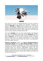 Pressetext Gerard - Krasscore