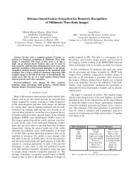 Distance-based Feature Extraction for Biometric Recognition ... - ATVS