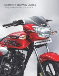 Twenty First Annual Report 2012 - 2013 - TVS Motor Company