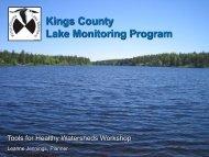 Kings County Lake Monitoring Program
