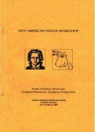 European Perspectives - American Indian Workshop