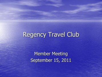 Regency Travel Club