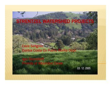 Strentzel Watershed Project.pdf - Bay Area IRWMP