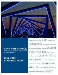 2012-2015 Strategic Plan - Iowa Arts Council